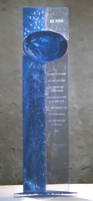 AVE MARIA, réf. 99/14. épreuve 1/1. 07/1999 dimensions 42x14x122 cm