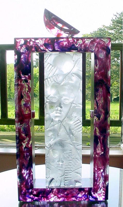 Cadre et empreinte, réf. 030507. épreuve 1/1. 05/2003 dimensions 27x8,5x58 cm