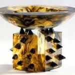Coupe à fleur de peau, Modèle de 1991 réf. 705AEL. EA2/4. 03/1993 dimensions 23,5x23,5x17 cm