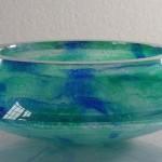 Coupe bleu vert, réf. 13/01. épreuve 1/1. 09/2001 dimensions 27x27x10 cm