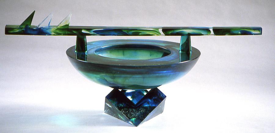 Coupe fléchée, Modèle de 1989 réf. 528AEL. 3/8. 10/1989 dimensions 44x23,5x18,5 cm