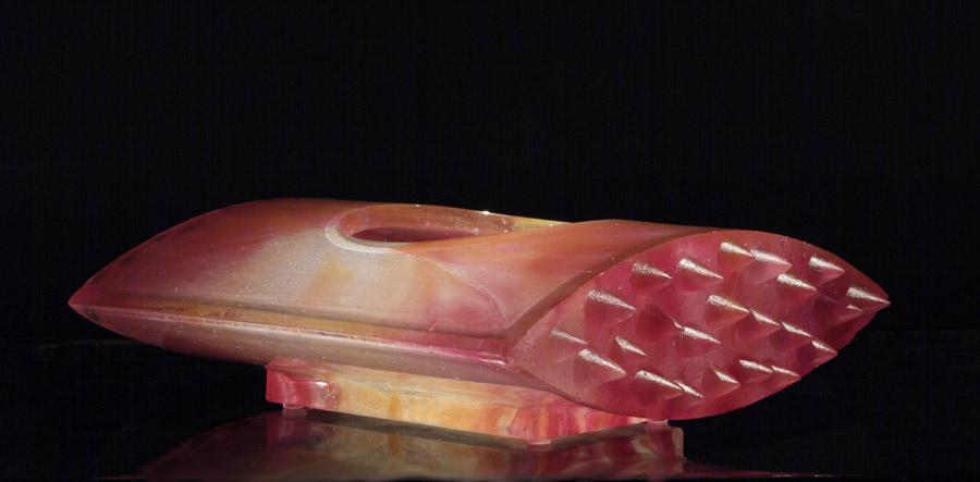 Coupe plate à pointes, réf. 030621. épreuve 1/1. 06/2003 dimensions 36x29x11 cm Photo Marc Wittmer