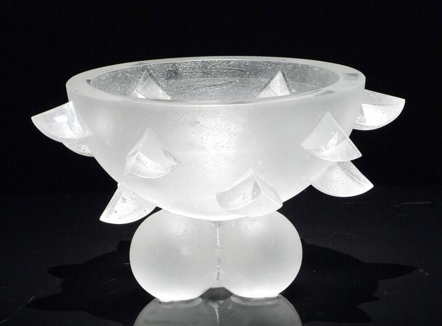Coupe ronde aux croissants, réf. 030904. épreuve 1/1. 09/2003 dimensions 32x32x18,5 cm Photo Marc Wittmer