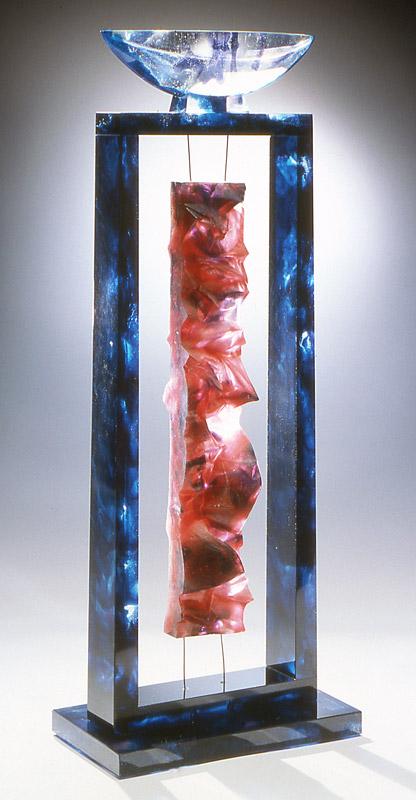 Empreinte suspendue II, réf. 94/08. épreuve 1/1. 11/1994 dimensions 23,5x13,5x60 cm