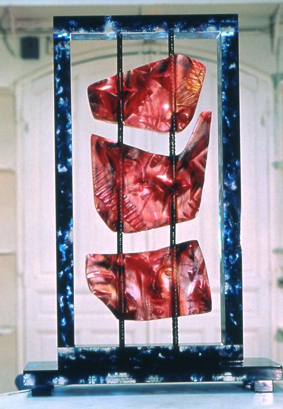 Empreinte suspendue VI, réf. 95/04. épreuve 1/1. 04/1995 dimensions 35x12,5x52 cm