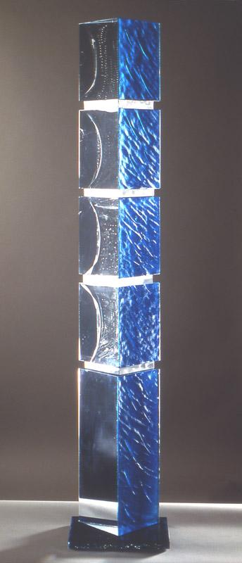 Feedback X, réf. 97/14. épreuve 1/1. 11/1997 dimensions 24x16x129 cm Photo Claude Basnier Gold prize Kanazawa 1998