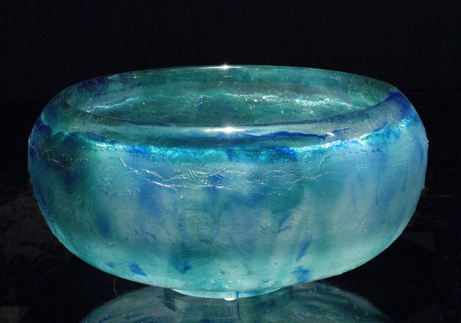 Grand vase boule, réf. 030921. épreuve 1/1. 09/2003 dimensions 37x37x20 cm Photo Marc Wittmer