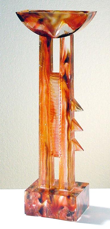 Grande coupe plate, Modèle de 1991 réf. 700AEL. 6/8. 11/1991 dimensions 16x9x44 cm