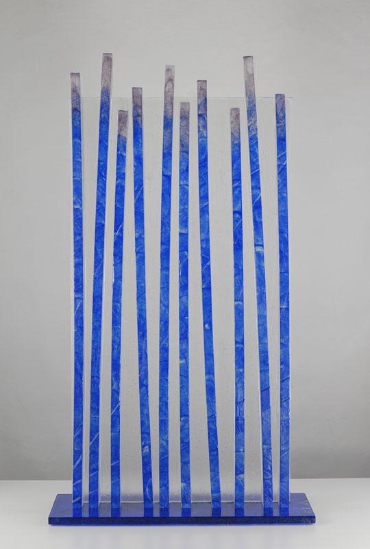 Lignes verticales, réf. 090504 épreuve 1/1. 05/2009 dimensions 54,5x19,5x97 cm