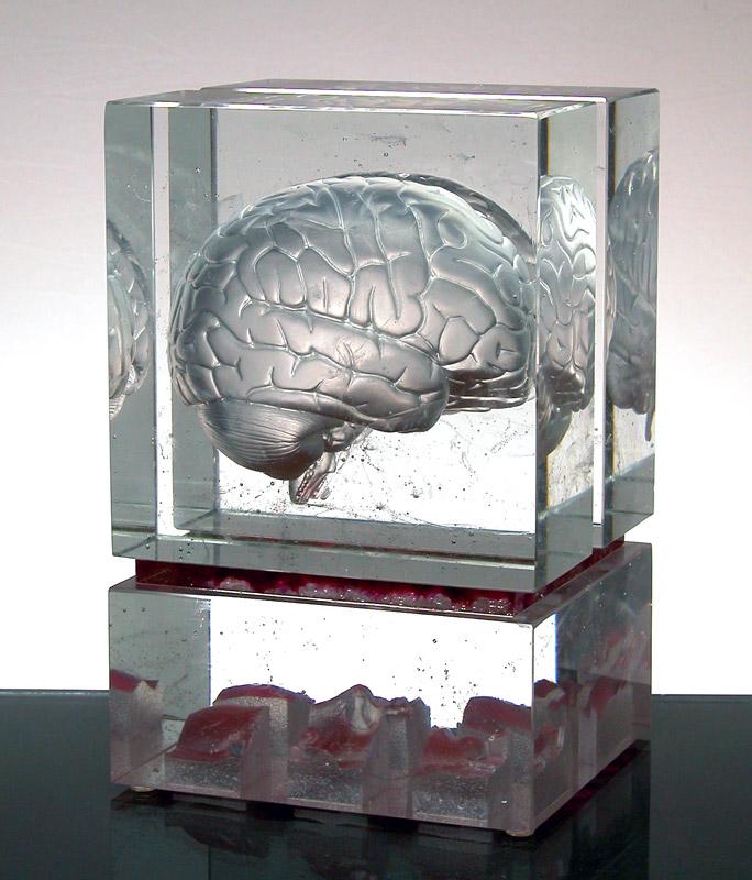 Matière à réflexion I, réf. 030122. épreuve 1/1. 01/2003 dimensions 18x16,5x28 cm