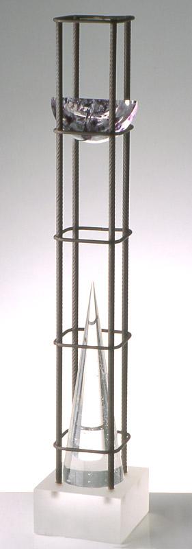 Ombre en cage I, réf. 93/03. épreuve 1/1. 09/1993 dimensions 13x13x85,5 cm
