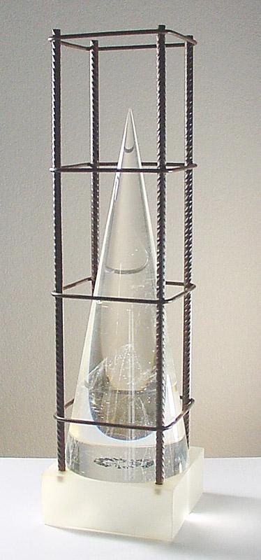 Ombre en cage II, réf. 93/18. épreuve 1/1. 11/1993 dimensions 16,5x16,5x60 cm