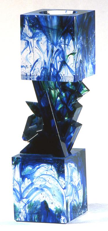 Tête-Bêche X, Modèle de 1991 réf. 702AEL. 1/8. 12/1991 dimensions 8,5x8,5x31 cm