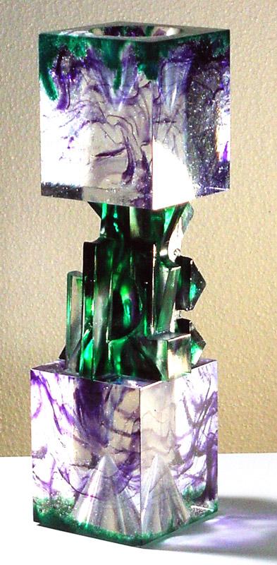 Tête-Bêche X, Modèle de 1991 réf. 737AEL. 3/8. 04/1992 dimensions 8,5x8,5x31 cm
