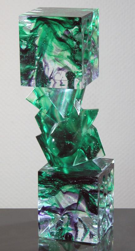 Tête-Bêche XII, Modèle de 1992 réf. 760AEL. 2/8. 11/1992 dimensions 8,5x8,5x31 cm