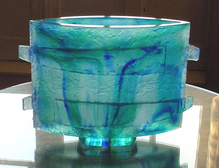 Vase bandeaux, réf. 030830. épreuve 1/1. 08/2003 dimensions 34,5x12x23,5 cm