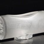Vase tube à pointes, réf. 030623. épreuve 1/1. 06/2003 dimensions 35x14,5x15,5 cm Photo Marc Wittmer